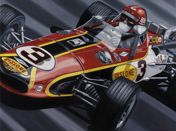 Bobby Unser Indy Signed Lithograph- AW8919