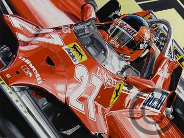 Gilles Villeneuve 1981 Monaco G.P.